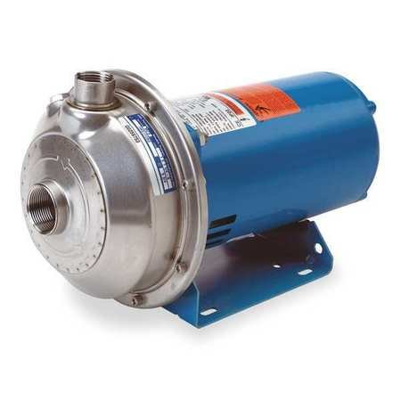 1 HP Centrifugal Pump, 1 Phase, 115/230 Voltage, ANSI 316L Stainless Steel Housing ()