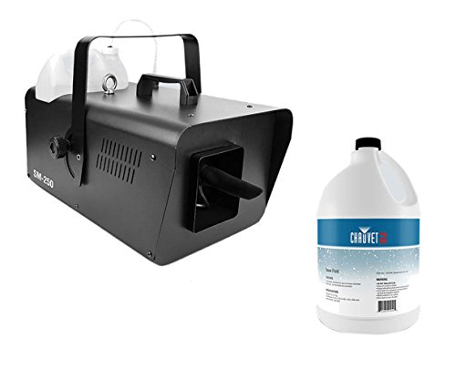 Chauvet SM-250 High-Output Snow Machine + Snow Fluid Gallon by Chauvet