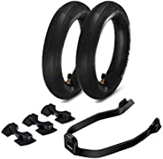6 Pieces Scooter Replacement Part, 2 Pieces 8.5 Inch Thickened Inner Tubes for Xiaomi M365/ M365 Pro Scooter,