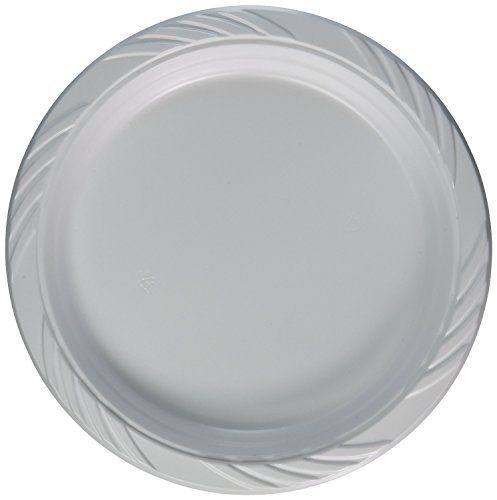 Price comparison product image Blue Sky 200 Count Disposable Plastic Plates,  9 Inch,  White