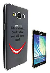 c0141 - Smile Life Quote Life is short smile While You Have Teeth Design Samsung Galaxy Core Prime G360 Fashion Trend CASE Gel Rubber Silicone All Edges Protection Case Cover