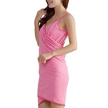 PerGrate perg Transferencia Micro Fiber Wearable Sexy Toalla seca en albornoz Lavado Ropa Wrap Mujeres Toallas playa vestido, Faser Rose, 240g: Amazon.es: ...
