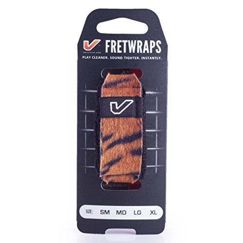Gruv Gear FretWraps Wild 'Tiger' String Muter 1-Pack (Extra Large) (FW-1PK-TIG-XL) from Gruv Gear