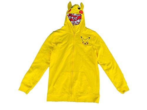AME Boys' Pikachu Yellow Sweatshirt with Hoodie Size (Pikachu Hoodie For Sale)