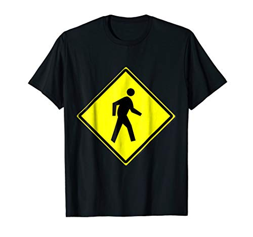 Pedestrian Crossing Sign Simple Halloween Costume T-Shirt ()
