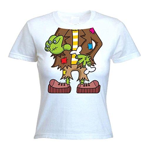 Tribal T-Shirt Women's Frankenstein Outfit Costume Fancy Dress T-Shirt X-Large White