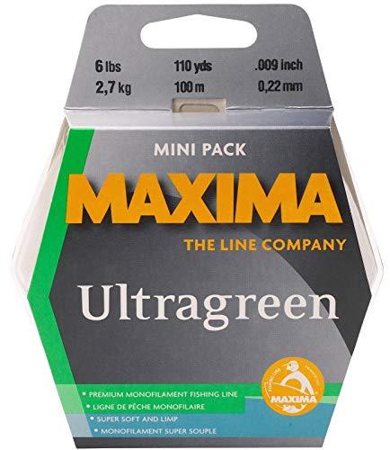 - Maxima Fishing Line Mini Pack, Ultragreen, 10-Pound/110-Yard