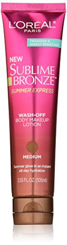 (L'Oréal Paris Sublime Bronze Summer Express Body Makeup Lotion, Medium, 3.55 fl. oz. )