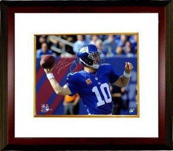Eli Manning Signed Autograph New York Giants 8x10 Photograph Custom Framed  100th Career Win- Steiner cee860d22