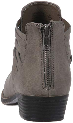 Sugar Women's Rhett Casual Boho Short Bootie with Criss Cross Straps Ankle Boot, Grey Distressed, 9 Medium US by Sugar (Image #2)