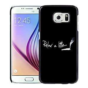 NEW Unique Custom Designed Samsung Galaxy S6 Phone Case With Relax A Little Smoke Weed_Black Phone Case