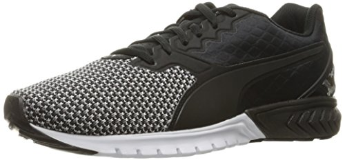 PUMA Women's Ignite Dual Nylon Wn's Running Shoe, Puma Black/Puma White, 8 M US