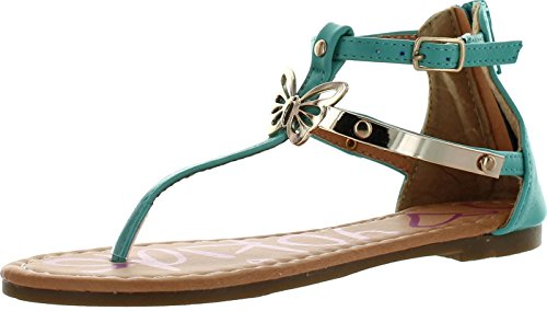 (Yokids Dev-56 Little Girls Strappy Flat Thong Sandals with Butterfly)