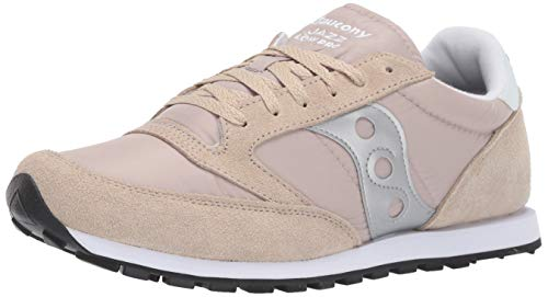 Saucony Originals Men's Jazz Lowpro Sneaker, Tan/Silver, 8 M US (Silver Mens Sneakers)