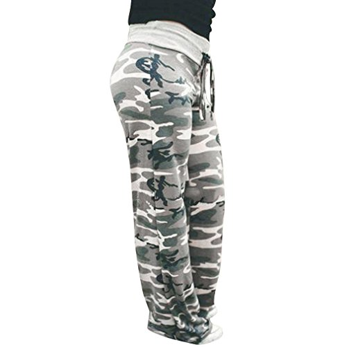 Pants for Womens, FORUU Ladies Summer Printed Drawstring Wide Leg Pants Leggings