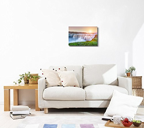 Beautiful Scenery Landscape Powerful Waterfall Dettifoss on Iceland Home Deoration Wall Decor ing