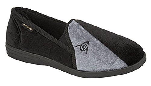 Dunlop Duncan Herren Slippers, Schwarz, Größe 42