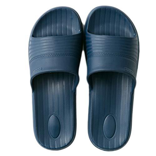 des Couple modèles d'intérieur et Mode Bleu Sandales AMINSHAP Taille de féminins Gray 42 Porter des 43EU Pantoufles Bain Chaussons d'été Pantoufles Sauvage Couleur EAx6wqX
