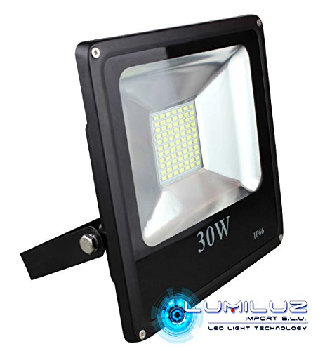 Proyector Led Exterior IP65 30W luz Azúl, ideal para ...