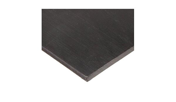Standard Tolerance Ultra High Molecular Weight Polyethylene UHMW 12 Width 1//4 Thickness Opaque Black Sheet 24 Length