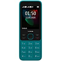 "Nokia 150 (2020) Feature Phone, Dual SIM, 2.4""Display, Camera, expandable MicroSD up to 32GB - Cyan"