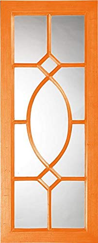 Wall Mirror Howard Elliott Dayton Rectangular Frame Orange Resin New Han