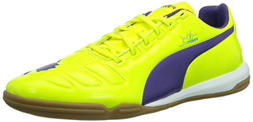 Puma evoPOWER 3 IT - Zapatos de fútbol de material sintético hombre Fluro Yellow-Prism Violet-Scuba Blue 3