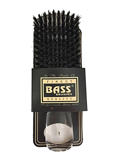 Brush Acrylic Handle - Bass Brushes Classic Men's Club 153 Style: 100% Wild Boar Bristles, Assorted Acrylic Handle Colors