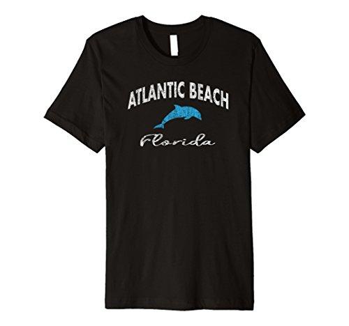 Vintage Dolphin Atlantic Beach FL Premium T Shirt (Atlantic Fl Beach)