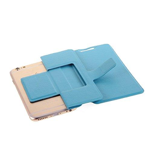 Flipcover Schutz Hülle für Apple iPhone 6s Plus, blau (hellblau) | bookstyle wallet case slim cover Tasche - K-S-Trade (TM) (Wir zahlen Steuern in Deutschland!)