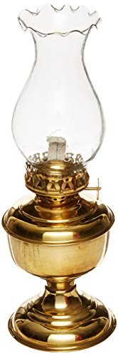 "Hampton Nautical  Solid Brass Table Oil Lamp, 10"", Brass"