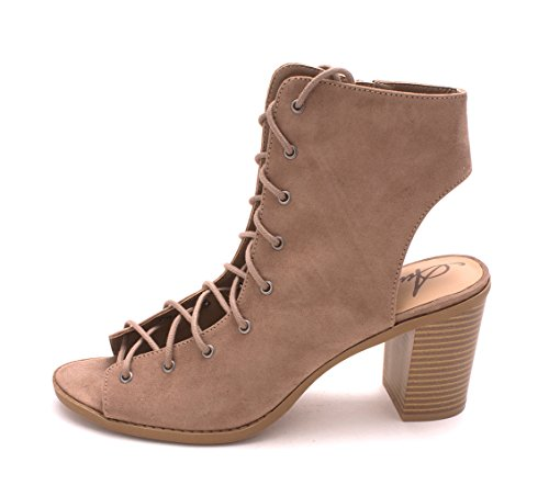 American Rag Womens Savanah Open Toe Ankle Fashion Boots Taupe IHzLUNH