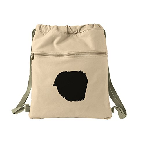Great Pyrenees Silhouette Canvas Dyed Sack Backpack Bag -