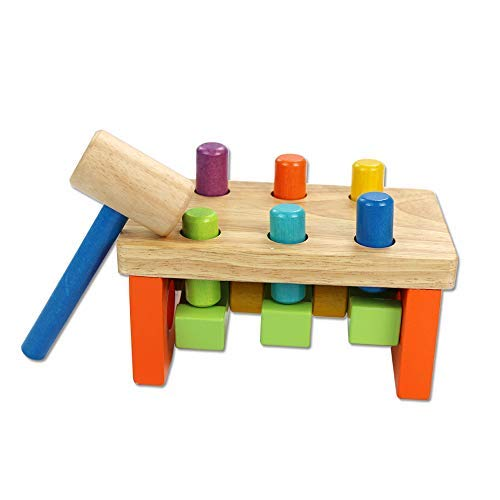 - umu Pounding Beach Toy with Hammer for Toddlers(7.99×4.45×4.25)