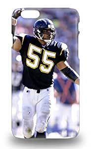 6 Snap On Case Cover Skin For Iphone 6 NFL San Diego Chargers Junior Seau #55 ( Custom Picture iPhone 6, iPhone 6 PLUS, iPhone 5, iPhone 5S, iPhone 5C, iPhone 4, iPhone 4S,Galaxy S6,Galaxy S5,Galaxy S4,Galaxy S3,Note 3,iPad Mini-Mini 2,iPad Air ) 3D PC Soft Case