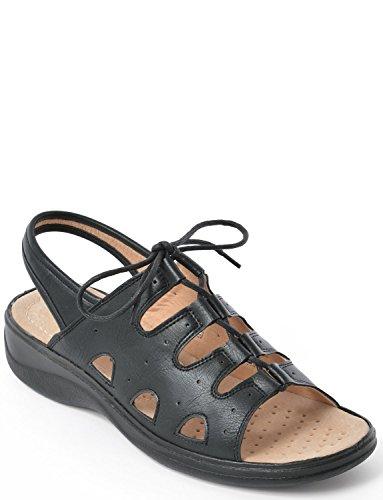 Damen Polster Spaziergang Blatt Sandale