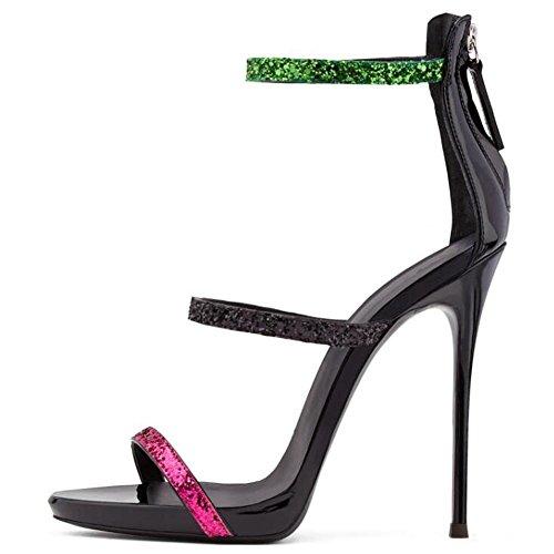L@YC Frauen High Heels Kampf Extreme Sandalen Bequeme Kleider Dress Up Pumps A