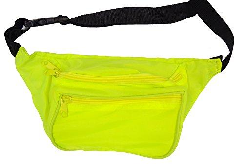 BAM Products Fanny Waist Packs Blank Neon (Neon Lemon Lime)
