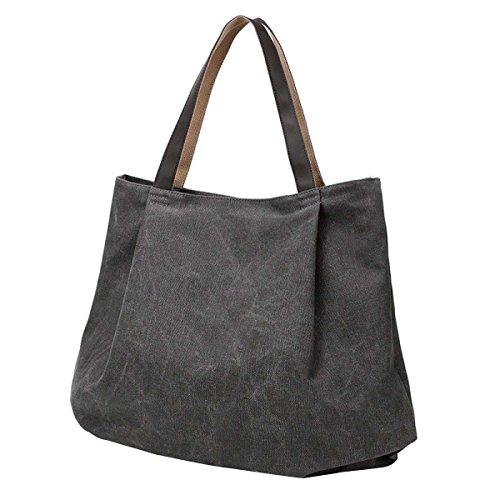 Bolsa De Lona De Las Mujeres De La Moda Simple Bolsa De Hombro Grey
