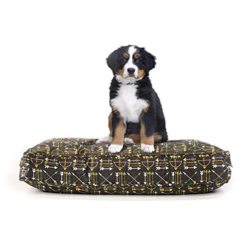 eLuxurySupply Pet Beds – Deluxe Cluster Fiber Filling Pet Beds for Dog and Cats 100 Cotton Removable Cover Fully Washable Small, Medium Large Pet Beds