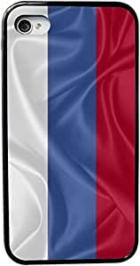 Rikki KnightTM Russia Flag Design iPhone 5 & 5s Case Cover (Black Rubber with bumper protection) for Apple iPhone 5 & 5s