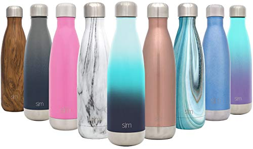 Simple Modern 25 oz Wave Water Bottle - Stainless Steel Double Wall Vacuum Insulated Metal Reusable - Leakproof Thermos Ombre: Sea Breeze -