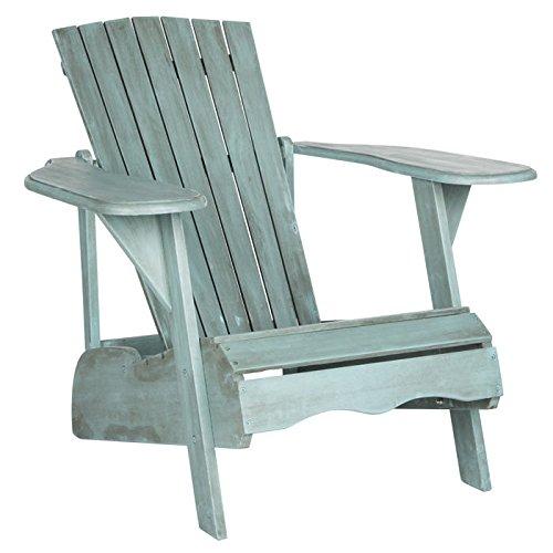 Outdoor Beach House Collection (Safavieh Outdoor Collection Mopani Adirondack Chair, Beach House Blue)