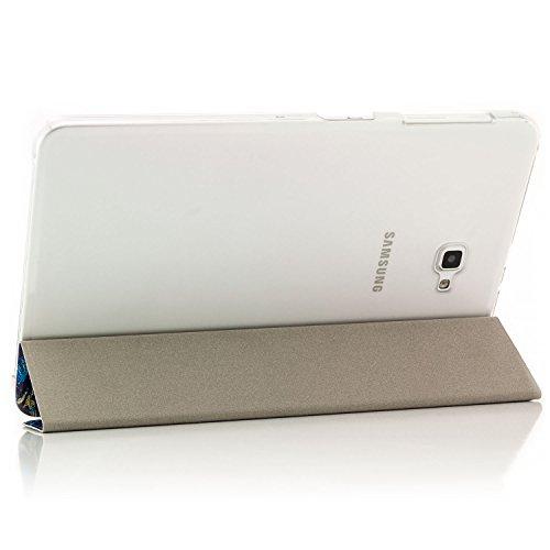 Saxonia Samsung Galaxy Tab A 10.1 Funda Case Slim Smart Protección Cover Motivo Las chancletas Motivo Whirl