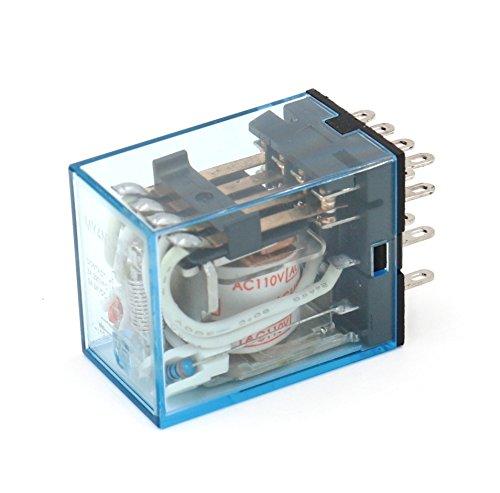 Relay MY4N-J  MY4N MY4 110V 115V 120V 110VAC 120VAC COIL with Socket PYF14A 2pcs