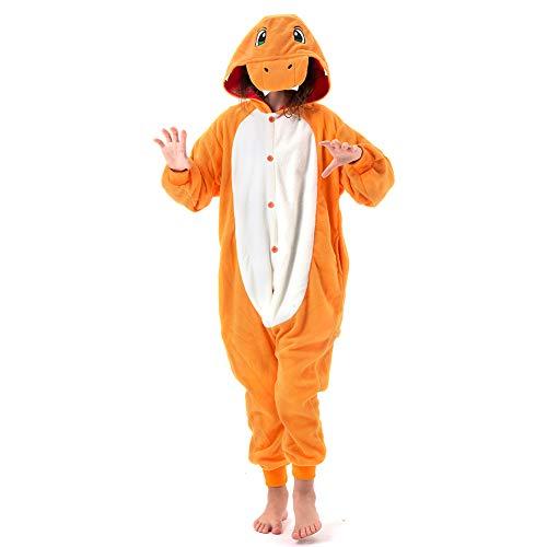 Friendly Halloween Costumes For Kids (Beauty Shine Unisex Child Charmander Costume Halloween Cosplay Pajamas (105,)