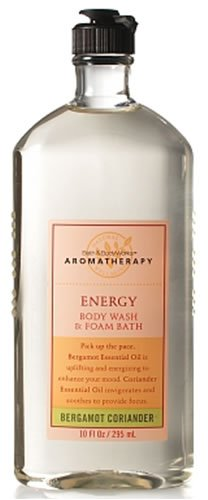 Bath & Body Works Aromatherapy Bergamot Coriander Energy Body Wash and Foam Bath 10 fl oz (295 ml)