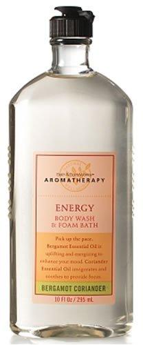 Bath & Body Works Aromatherapy Bergamot Coriander Energy Body Wash and Foam Bath 10 fl oz (295 ml) For Sale