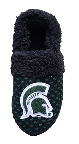 Campus Footnotes Womens Michigan State Knit Slippers w Chenille Logo Size Med 7/8 uVbJhkR7m