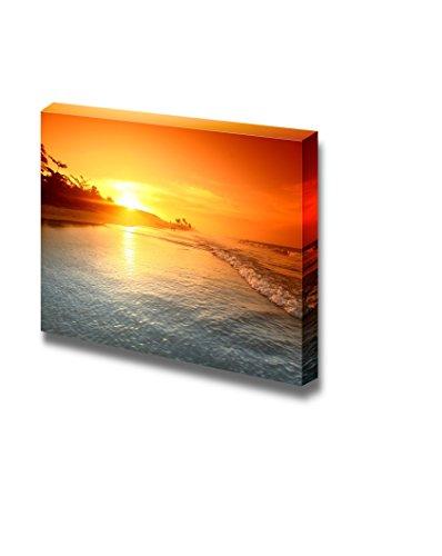 Beautiful Scenery Landscape Sunrise on the Sea Ocean under Golden Sky Nature Beauty Wall Decor ation